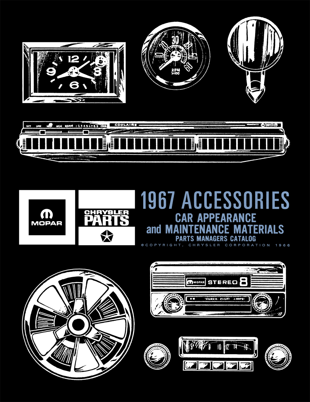 1967 MoPar Accessories Parts Catalog Reprint