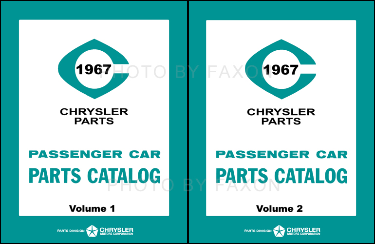 1967 MoPar Parts Book Reprint 2 Volume Set