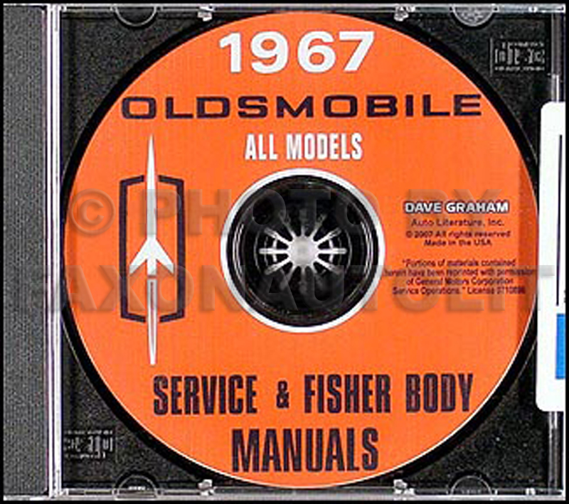 1967 Oldsmobile CD-ROM Shop Manual & Body Manual