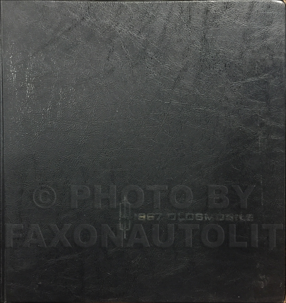 1967 Oldsmobile Data Book Original