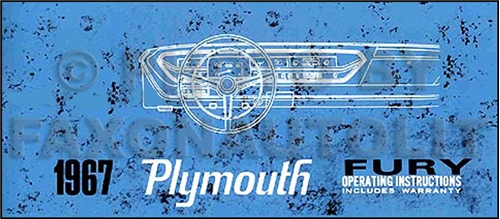 1967 Plymouth Fury & Sport Fury Owner's Manual Reprint
