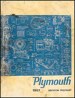1967 Plymouth Shop Manual Original