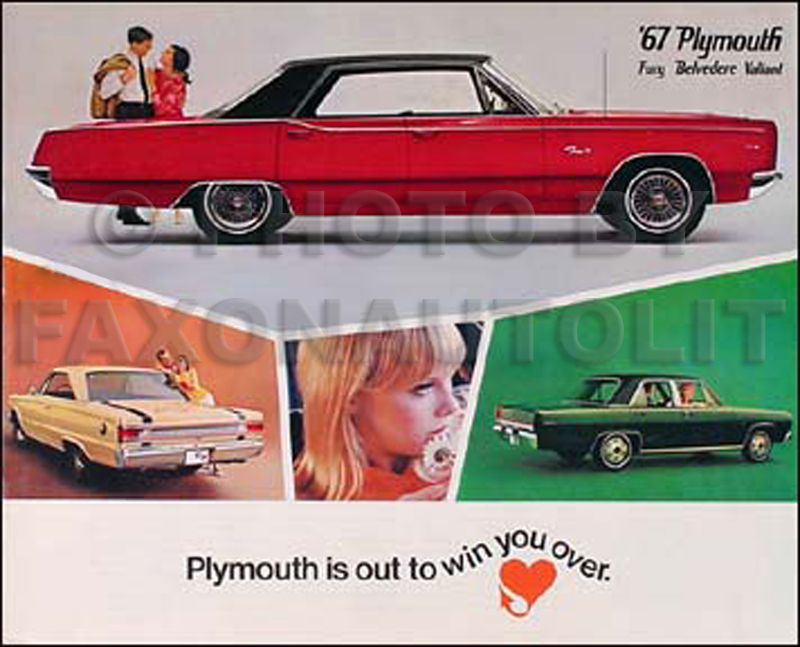 1967 Plymouth Sales Catalog Belvedere Satellite GTX Valiant Fury