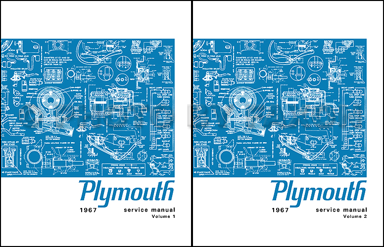 1967 Plymouth Shop Manual Reprint 2 Vol Set