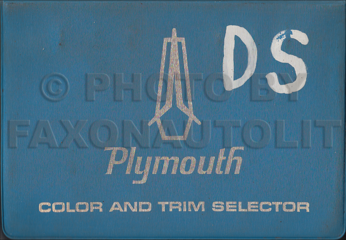 1967 Plymouth Color & Upholstery Dealer Album Original Small Size