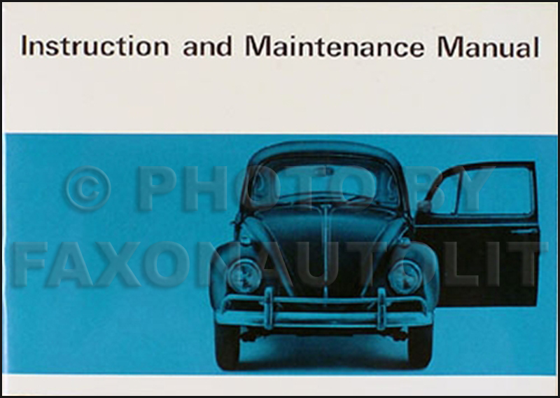 1967 Volkswagen Bug Beetle Owner's Manual Original VW
