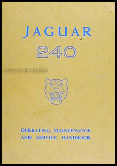 1968-1969 Jaguar 240 Owner's Manual  Original