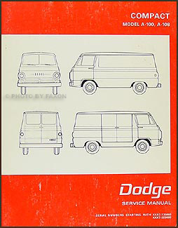 1968-1970 Dodge A-100 & A-108 Van Repair Manual Original