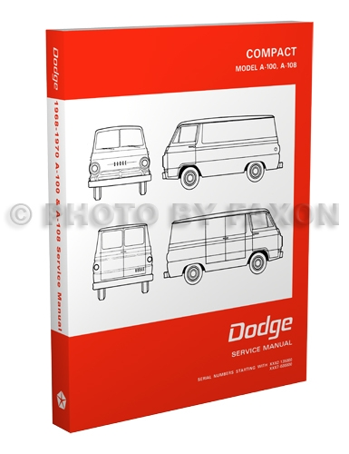 1968-1970 Dodge A-100 & A-108 Van Repair Manual Reprint