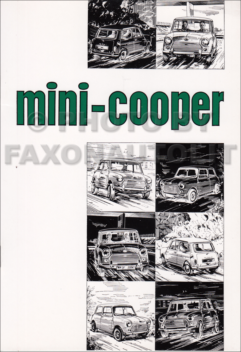 1968-1970 Mini Cooper Mark II Owner's Manual Reprint