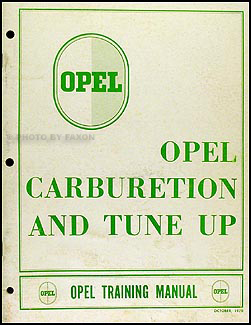 1968-1970 Opel Carburetor Training Manual Original