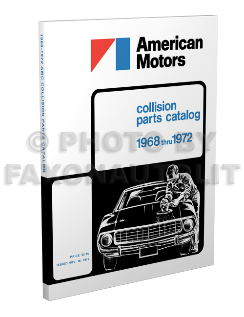 1968-1972 AMC Body Collision Parts Catalog Reprint