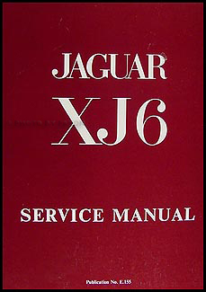 1968-1973 Jaguar XJ6 Repair Manual Reprint