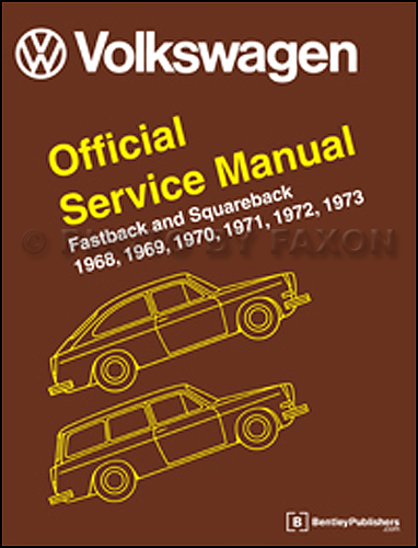 1968-1973 VW Fastback and Squareback (Type 3) Repar Manual Hardcover