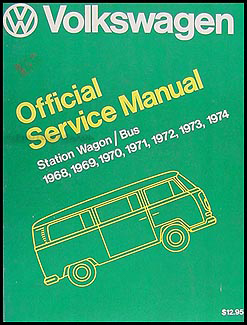 1968-1974 VW Station Wagon/Bus Original FACTORY Shop Manual