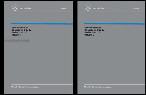 1968-1976 Mercedes 114/115 Chassis and Body Service Manual