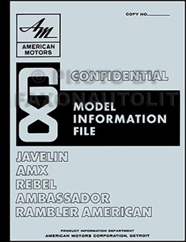 1968 AMC Model Information File Reprint