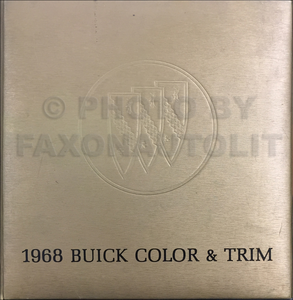 1968 Buick Color & Upholstery Dealer Album Original