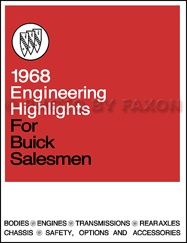 1968 Buick Engineering Features Manual Reprint