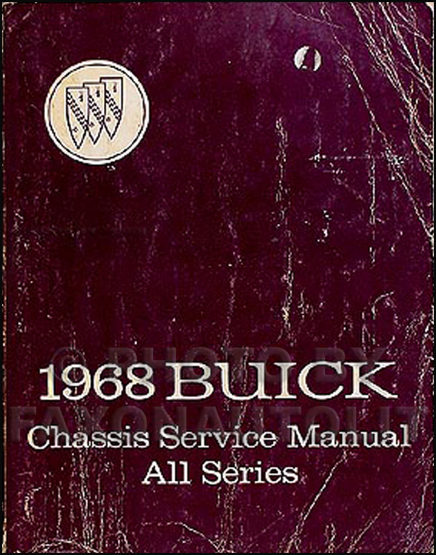 1968 Buick Shop Manual Original All Models