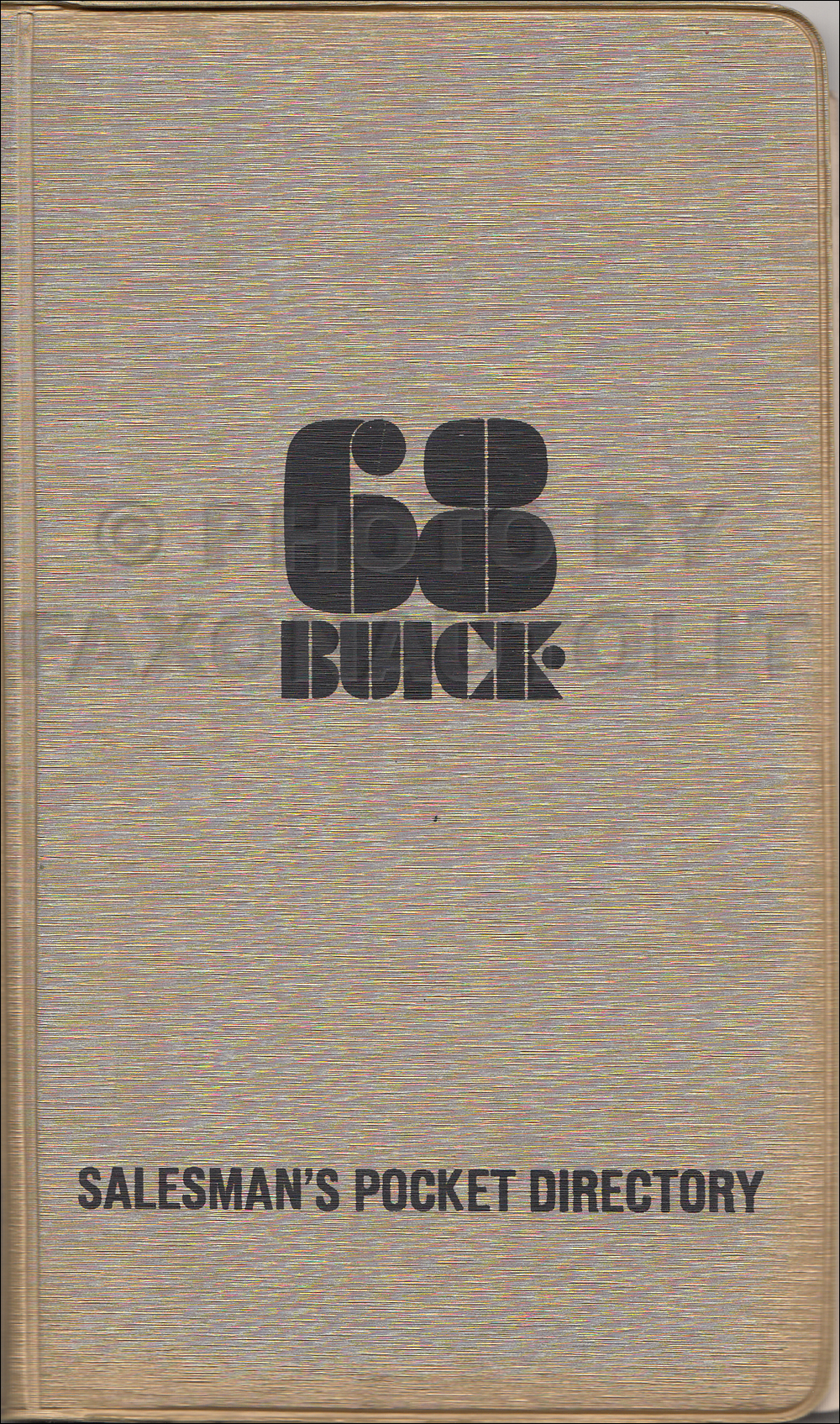 1968 Buick Salesman's Pocket Directory Original