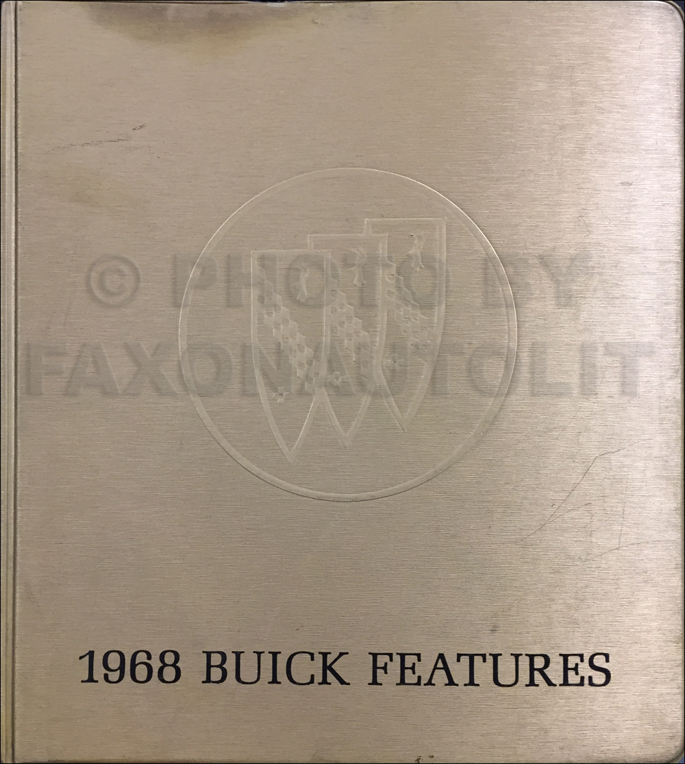 1968 Buick Data Book Original Preliminary