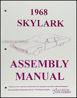 1968 Buick Assembly Manual GS Skylark Special Deluxe Custom Sportwagon