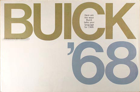 1968 Buick Sales Brochure Original--All Models