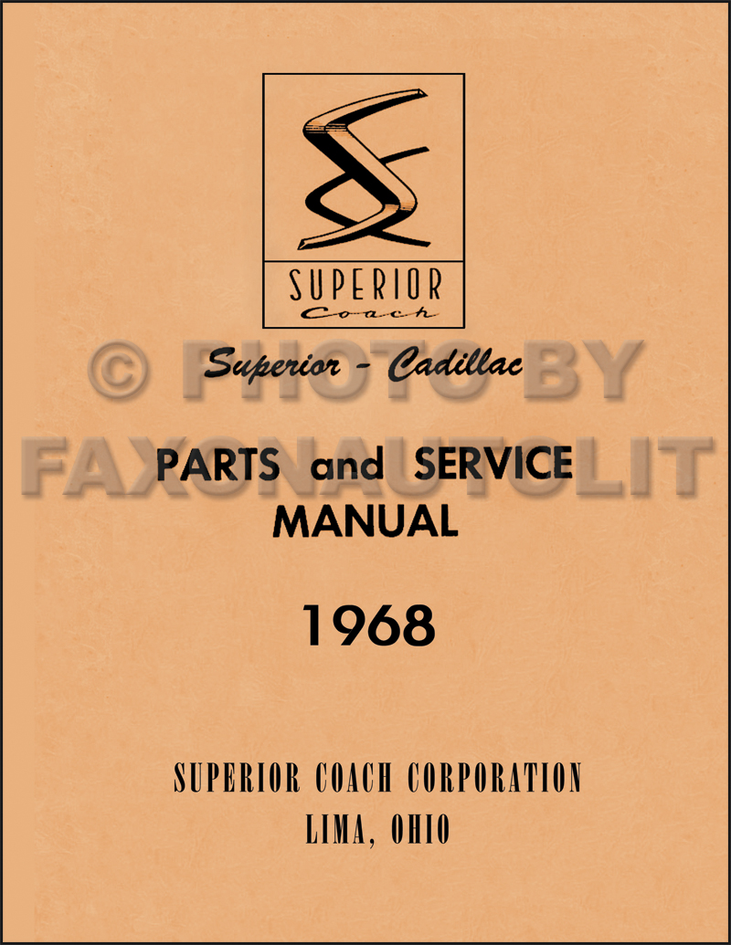 1968 Cadillac Cd Repair Shop Manual Body And Parts Book Limousine Wiring Diagram