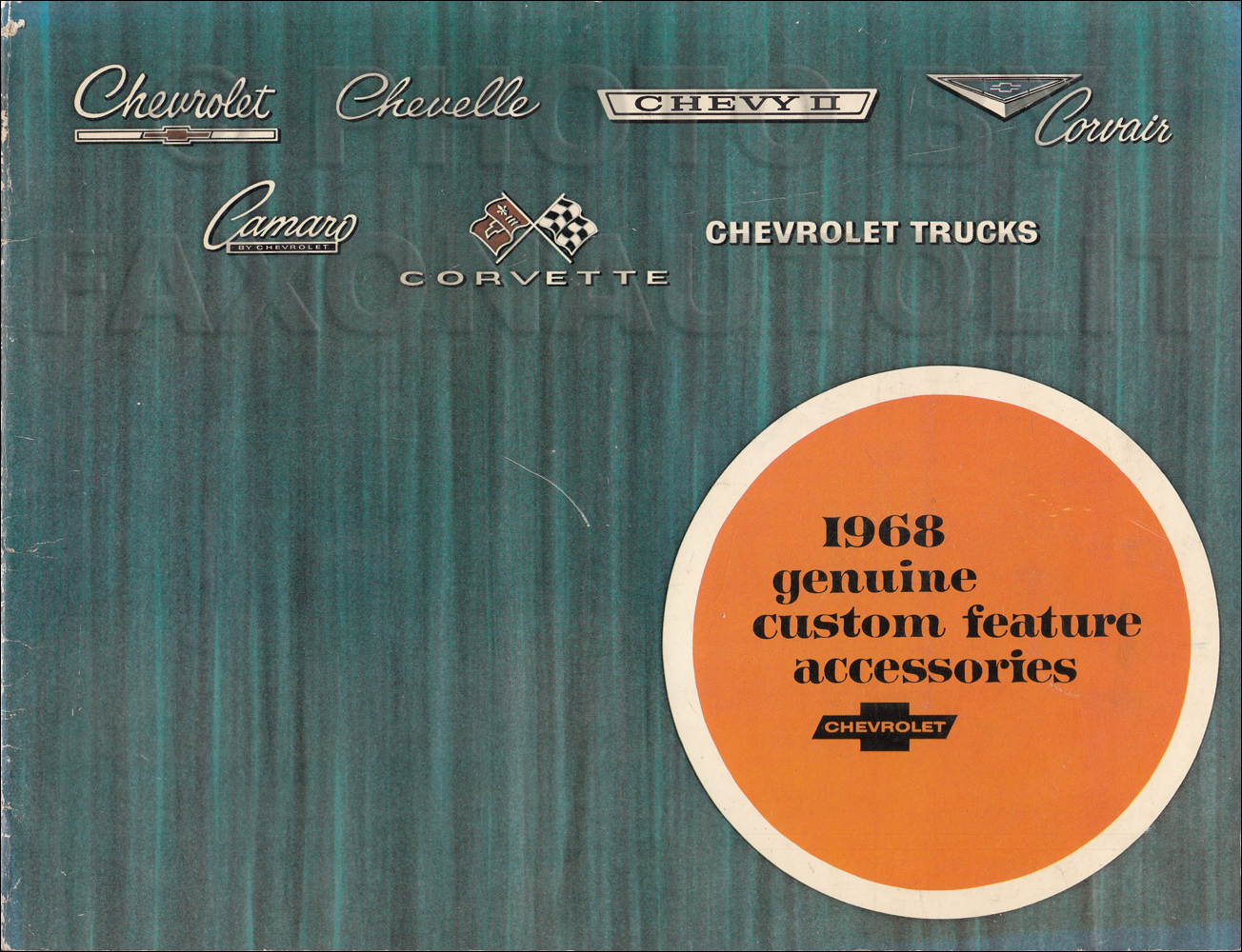 1968 Chevrolet Custom Feature Accessories Dealer Album Original