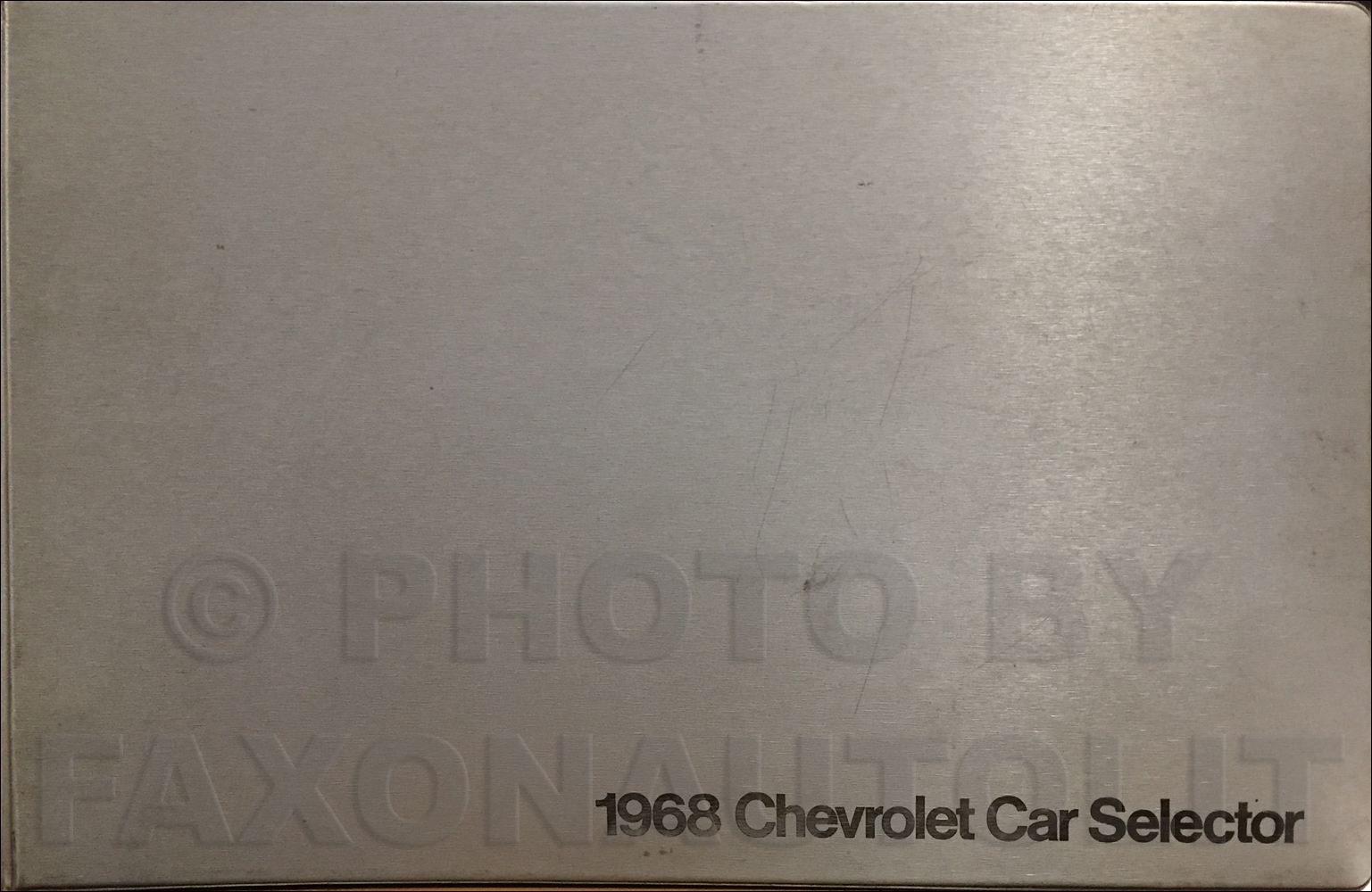 1968 Chevrolet Car Color and Upholstery Dealer Album Original