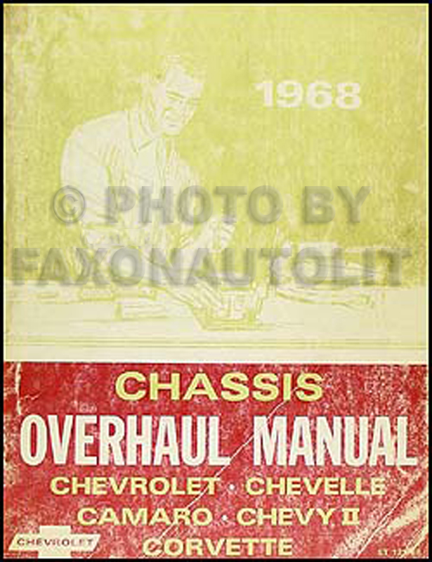 1968 Chevy Car Overhaul Manual Original