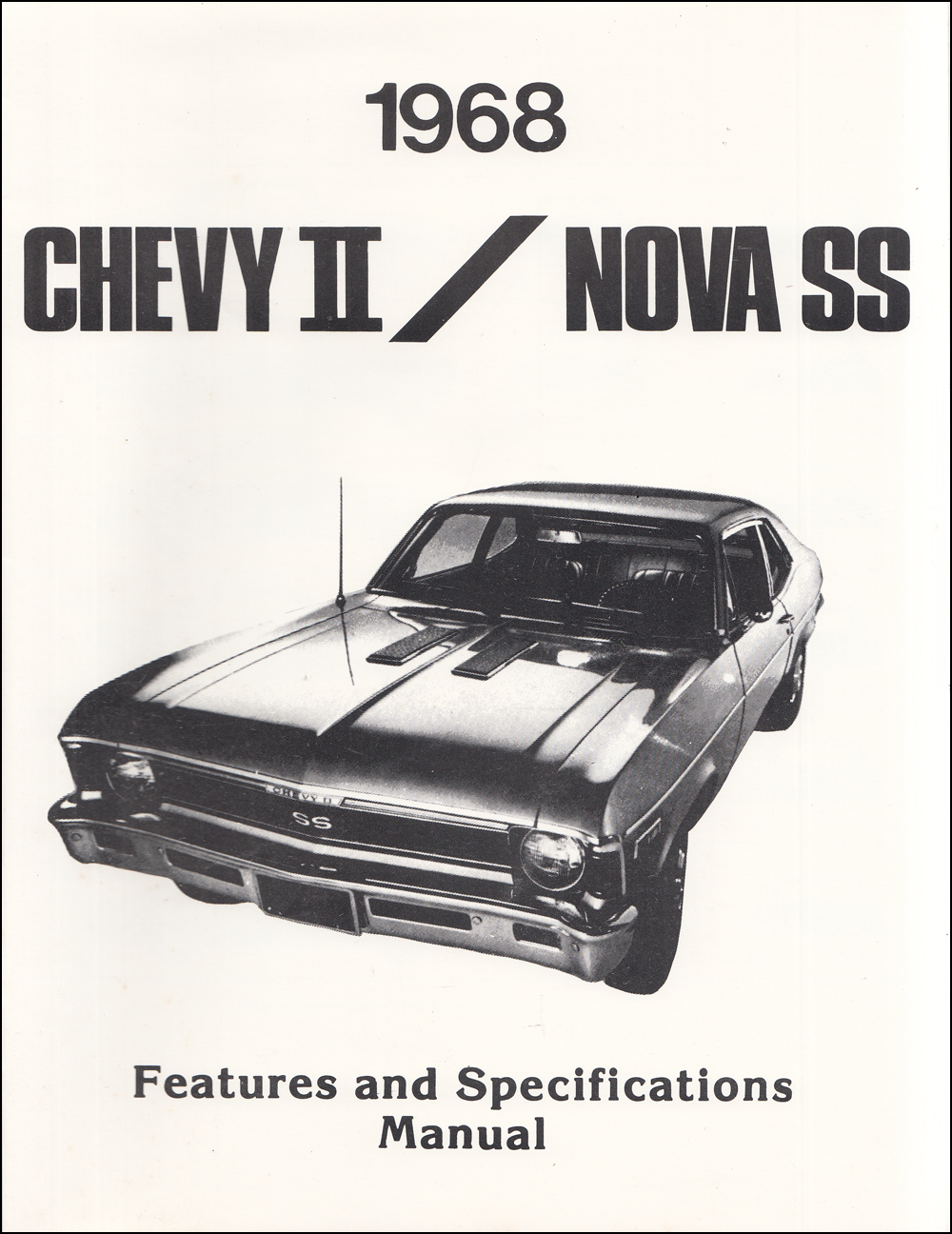 1968 Chevy Ii Nova Wiring Diagram Manual Reprint