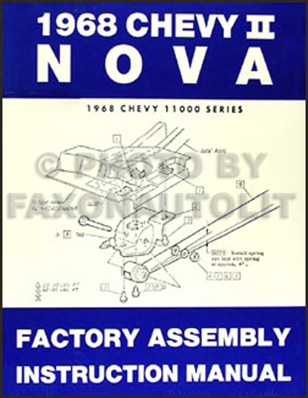 1968 Chevy II & Nova Bound Factory Assembly Manual Reprint