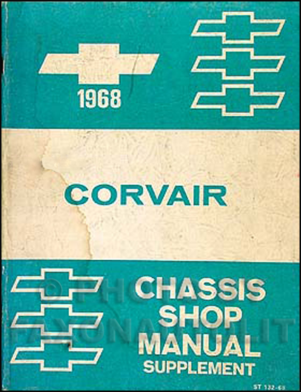 1968 Chevrolet Corvair Car Shop Manual Original Supplement