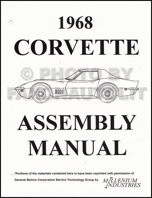1968 Corvette Factory Assembly Manual Reprint