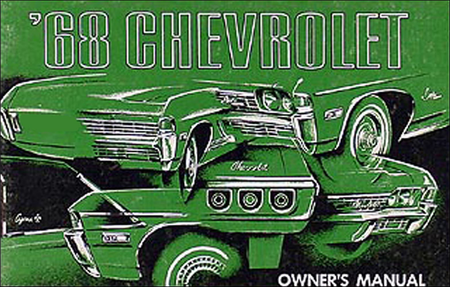 1968 Chevy Owner's Manual Original Impala, SS Caprice Bel Air Biscayne