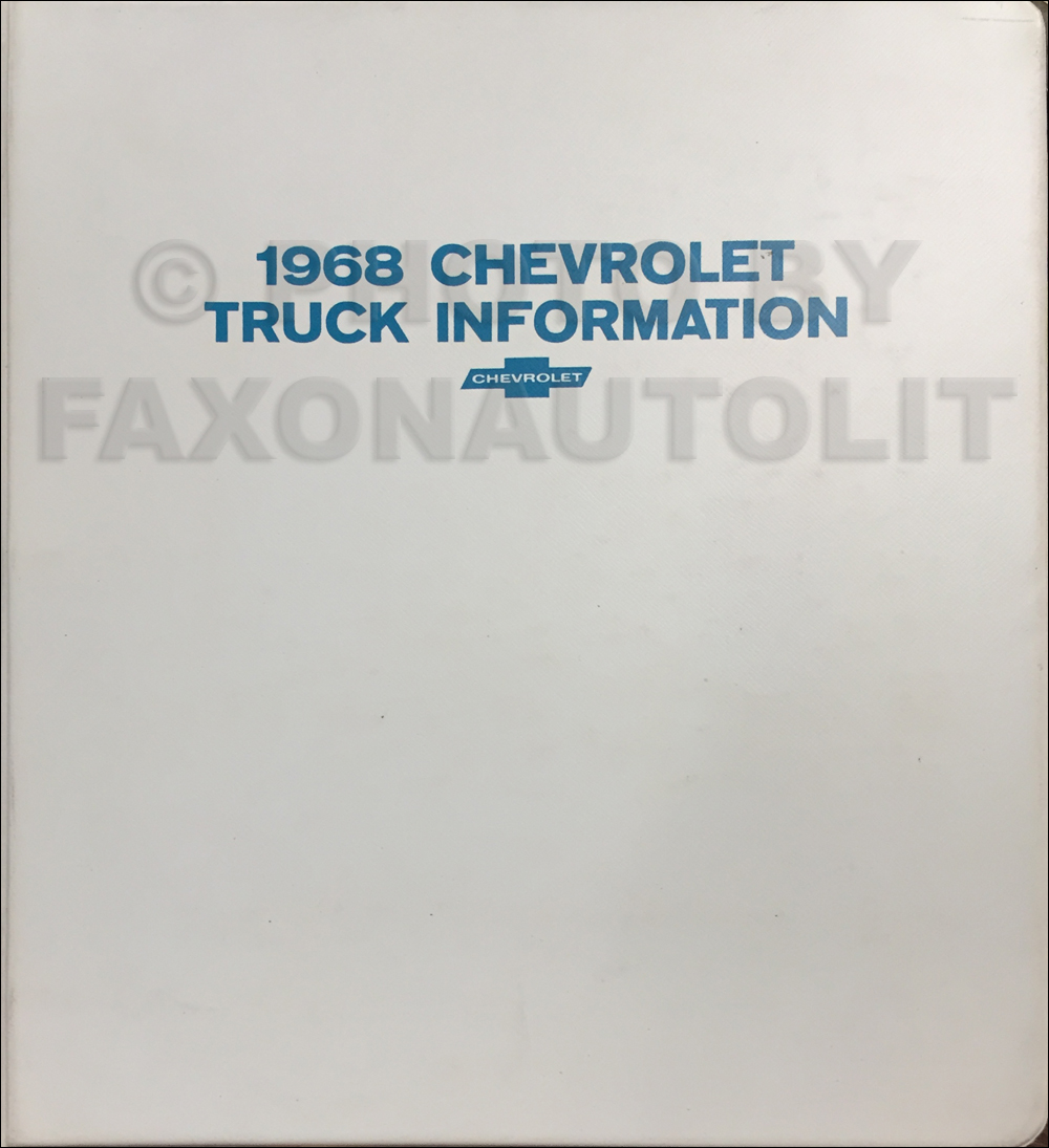 1968 Chevrolet Truck Sales Brochure Set in a Dealer Album