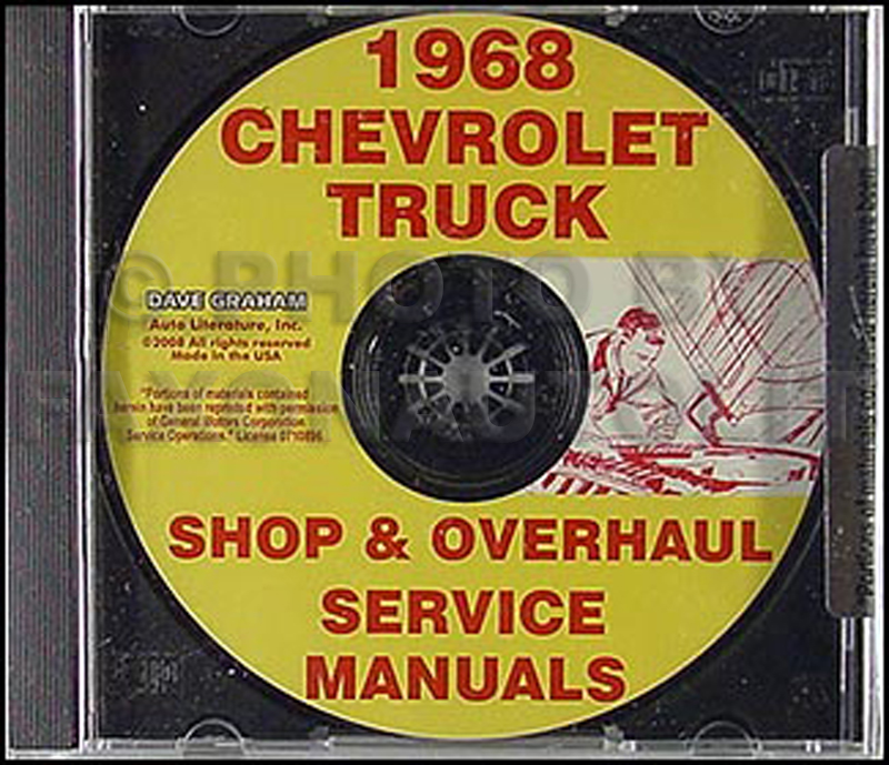 1968 Chevy Pickup and Truck CD Shop Manual and Overhaul Manual