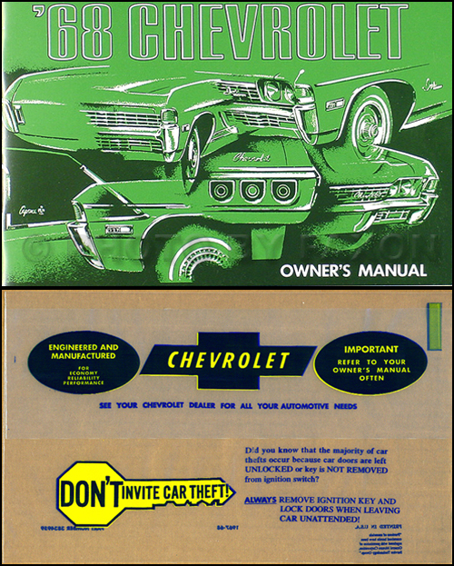 1968 Chevy Wiring Diagram Reprint Impala Ss Caprice Bel