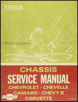 1968 Chevrolet Shop Manual Original -- Impala, Chevelle, El Camino, Nova, Camaro & Corvette