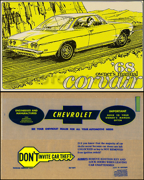 1968 Chevrolet Corvair & Monza Owner's Manual Package Reprint