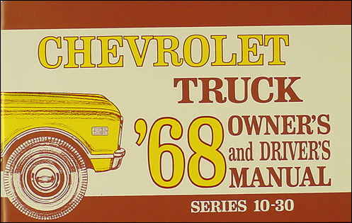 1968 Chevrolet Pickup Truck Wiring Diagram Manual Reprint