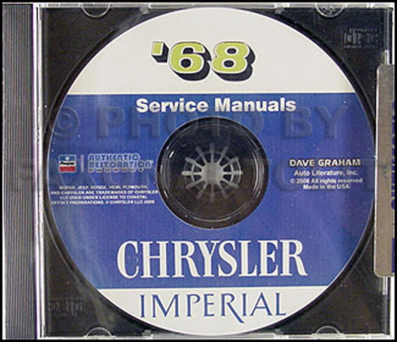 1968 Chrysler Shop Manual on CD for Imperial Newport 300 New Yorker