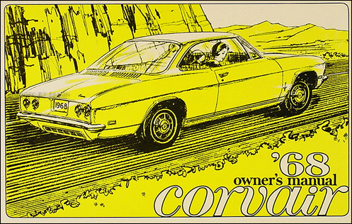 1968 Chevrolet Corvair & Monza Owner's Manual Reprint