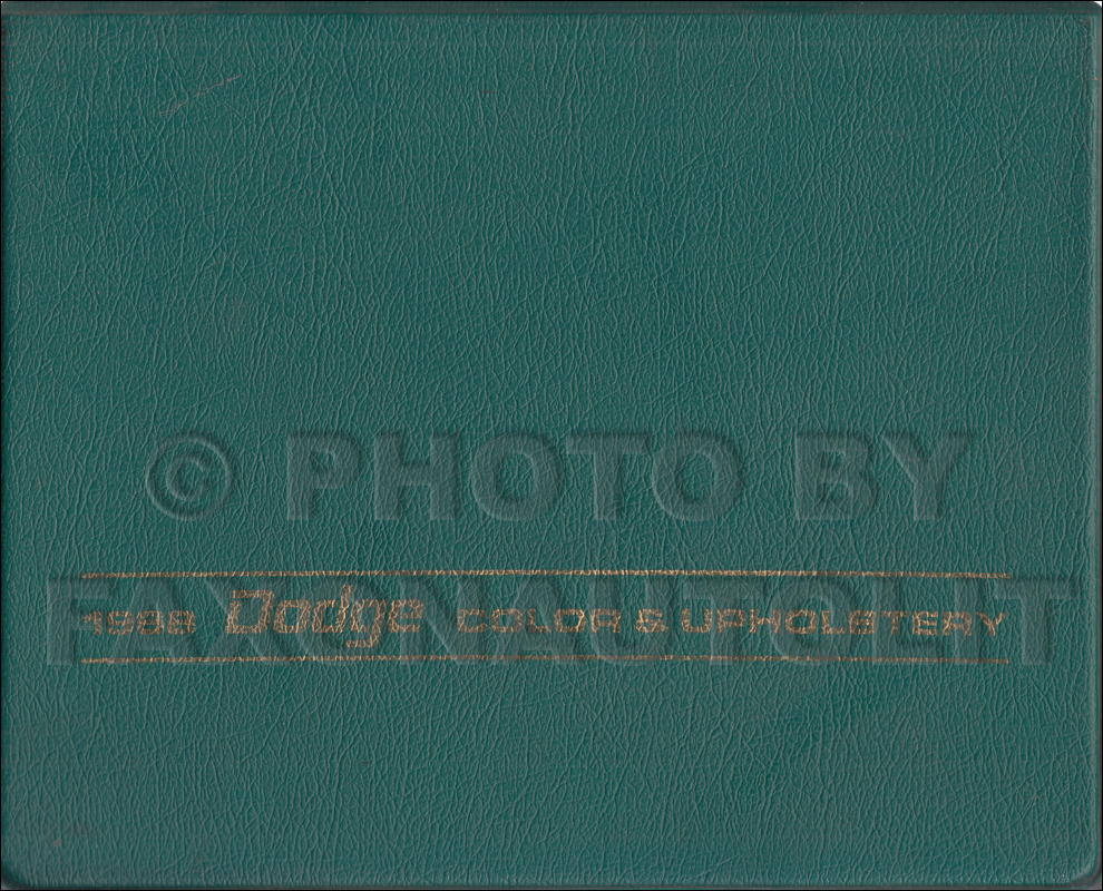 1968 Dodge Color & Upholstery Dealer Album Original