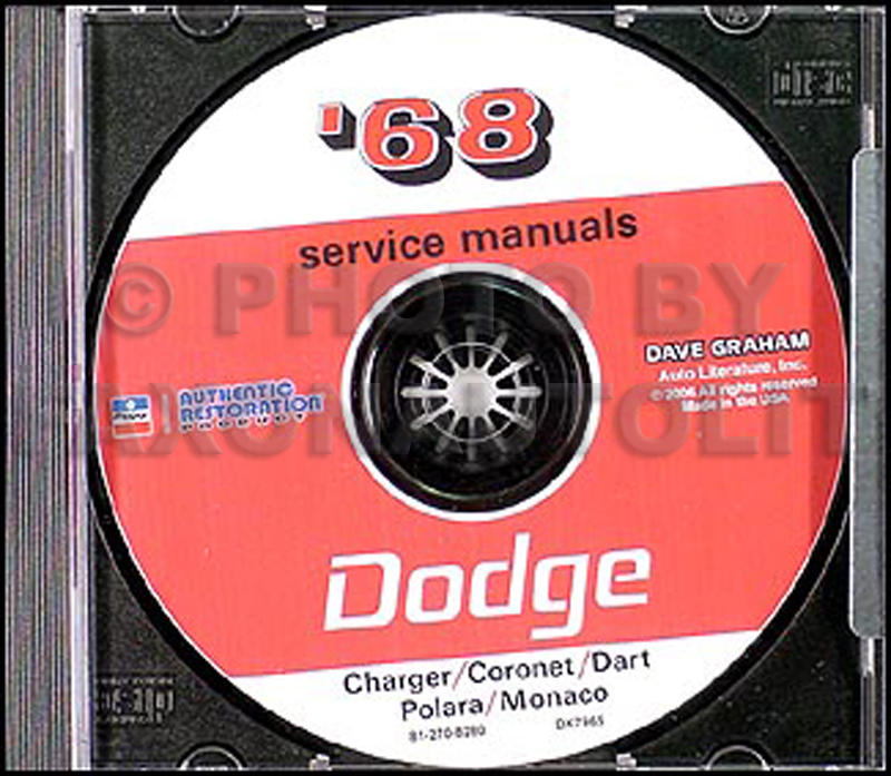1968 Dodge CD Shop Manual for all models