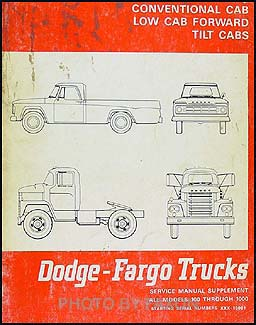 1968 Canadian Dodge Truck and Fargo Repair Manual Original Supplement