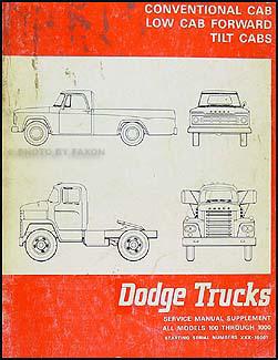 1968 Dodge Truck Repair Shop Manual Original Supplement