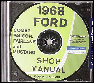 1968 CD Shop Manual Mustang/Fairlane/Falcon/Fairlane/Montego/Cougar